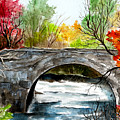 Stone Bridge In Maine  by Brenda Owen