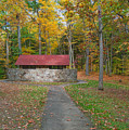 Stone Building In The Park by Kathleen Rinker