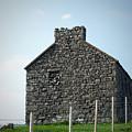Stone Building Maam Ireland by Teresa Mucha