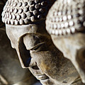 Stone Carved Buddha Faces by Ray Laskowitz - Printscapes