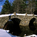 Stone Double Arched Bridge - Hillsborough New Hampshire Usa by Erin Paul Donovan