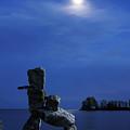 Stone Figure In Moonlight by Oleksiy Maksymenko