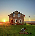 Stone House Sunrise by Bonfire Photography