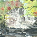 Stone Mountain Falls - The Upper Cascade - IIi - Autumn by Joel Deutsch