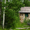 Stone Outhouse 2 by Ron Glaser