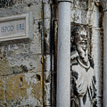 Stone Street Sign And Statue In Split, Croatia by Global Light Photography - Nicole Leffer