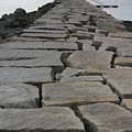 Stone Walk To Light House by Dennis Curry