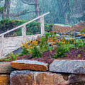 Stone Wall And Stairs by Chester Wiker