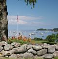 Stone Wall And Tenants Harbor, Maine  #8455 by John Bald