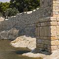 Stone Wall In Foca by Bob Phillips