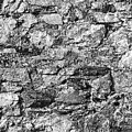 Stone Wall In Monochrome by Les Palenik