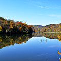 Stonecoal Lake In Autumn Color by Thomas R Fletcher