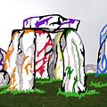 Stonehenge Chakras by Mary Mikawoz