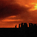 Stonehenge Impasto 2 by Steve Harrington
