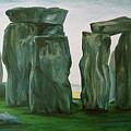 Stonehenge In Spring 2 by Jennifer Christenson