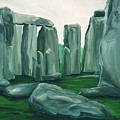 Stonehenge In Spring by Jennifer Christenson