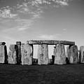 Stonehenge On A Clear Blue Day Bw by Kamil Swiatek