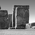 Stonehenge Prehistoric Monument In Black And White by Gregory Dyer