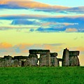 Stonehenge Sunset In Spring by Leanne Westby