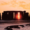 Stonehenge Winter Solstice by English School