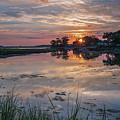 Stony Brook Sunset On The Harbor by Alissa Beth Photography