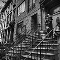 Stoops Of Brooklyn 001 Bw by Lance Vaughn