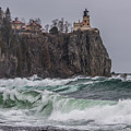 Storm At Split Rock Lighthouse by Paul Freidlund