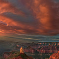 Storm At Sunrise Point Imperial Grand Canyon National Park Arizona by Dave Welling