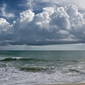 Storm Clouds Above The Atlantic Ocean by Zina Stromberg