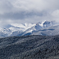Storm Clouds Receding And Fresh Snow On Pikes Peak by Steve Krull