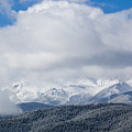 Storm Clouds And Snow On Pikes Peak by Steve Krull