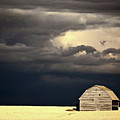 Storm Clouds Behind Abandoned Saskatchewan Barn by Mark Duffy