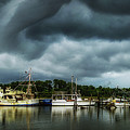 Storm Clouds On The Bon Secour Alabama by Michael Thomas