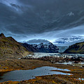 Storm Clouds Over A Glacier - Iceland by Stuart Litoff