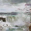Storm In Niagara Falls  by Ylli Haruni