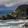Storm Moving Over Heceta Head Lighthouse by Teri Virbickis