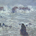 Storm Off The Coast Of Belle Ile by Claude Monet
