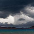Storm On Karakul Lake. Panorama by Konstantin Dikovsky