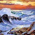 Storm On The Irish Coast by David Lloyd Glover