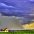 Storm Over River by Sam Davis Johnson