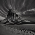 Storm Over Shiprock New Mexico by Keith Kapple
