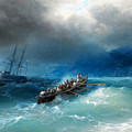 Storm Over The Black Sea by Ivan Aivazovsky