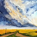 Storm Over The Country Road by Deepa Sahoo