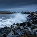 Storm Over The Jetty 1 by Joe Azevedo