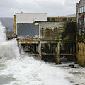 Storm Waves Hit Aeneas Ruins At Cannery Row by Susan Wiedmann