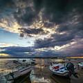 Storms At Dusk In La Caleta Cadiz Spain by Pablo Avanzini