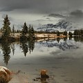 Storms Over Talbot Lake by Adam Jewell