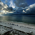 Storms Over The Gulf Of Mexico by Michael Thomas