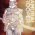 Stormtrooper - Star Wars Art - Brown by Studio Grafiikka