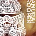 Stormtrooper Helmet - Brown - Star Wars Art by Studio Grafiikka